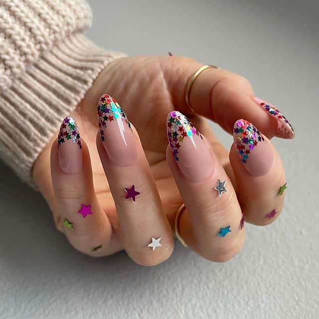 star nail designs, star nail art, star nails short, star nail ideas, star nails acrylic, nail art, glitter nails