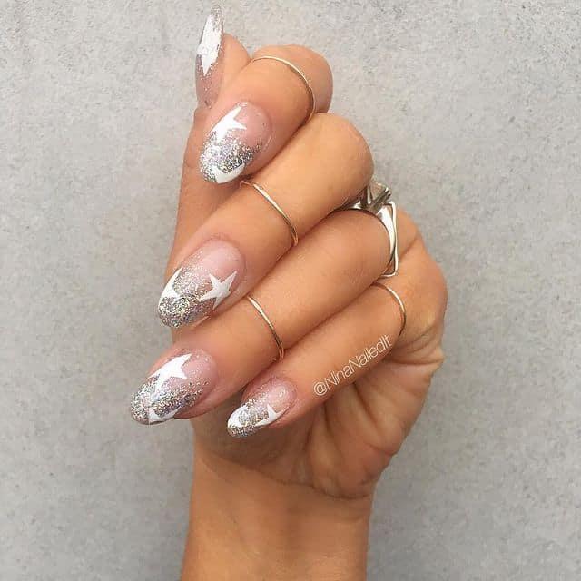 star nail designs, star nail art, star nails short, star nail ideas, star nails acrylic, nail art, white star nails