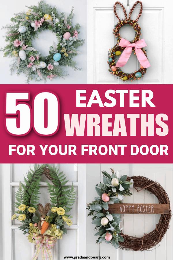 50+ Easter Wreath Ideas That'll Brighten Your Front Door!