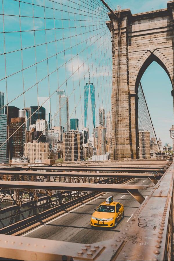 New York City, New York City wallpaper, New York aesthetic, New York City aesthetic, New York wallpaper, NYC wallpaper, Brooklyn bridge, New York taxi