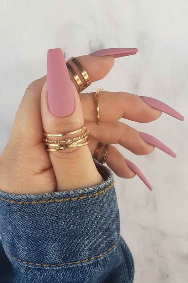 pink nails, pink nail art, pink nail designs, pink nail ideas, pink nails acrylic, pink nail polish, matte pink nails, spring nails