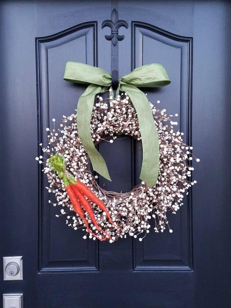 easter wreath ideas, easter wreaths, easter wreaths front door, easter wreath diy, easter decor, easter decor ideas, easter decorations outdoor, easter decorations for the home, carrot wreath