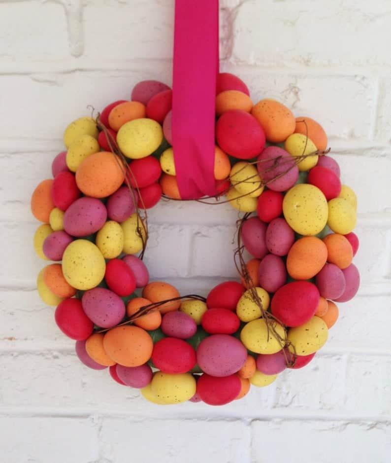 easter wreath ideas, easter wreaths, easter wreaths front door, easter wreath diy, easter decor, easter decor ideas, easter decorations outdoor, easter decorations for the home, egg wreath