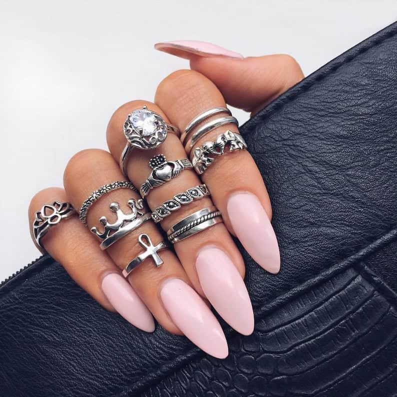 pink nails, pink nail art, pink nail designs, pink nail ideas, pink nails acrylic, pink nail polish, spring nails, almond nails