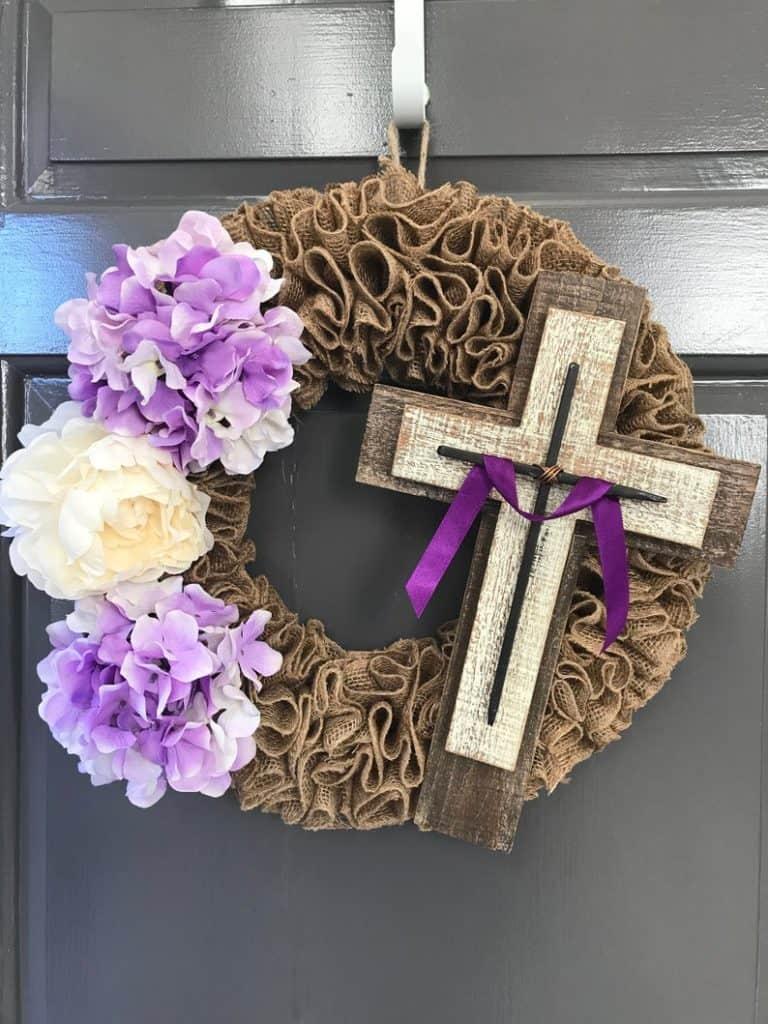 easter wreath ideas, easter wreaths, easter wreaths front door, easter wreath diy, easter decor, easter decor ideas, easter decorations outdoor, easter decorations for the home, cross wreath