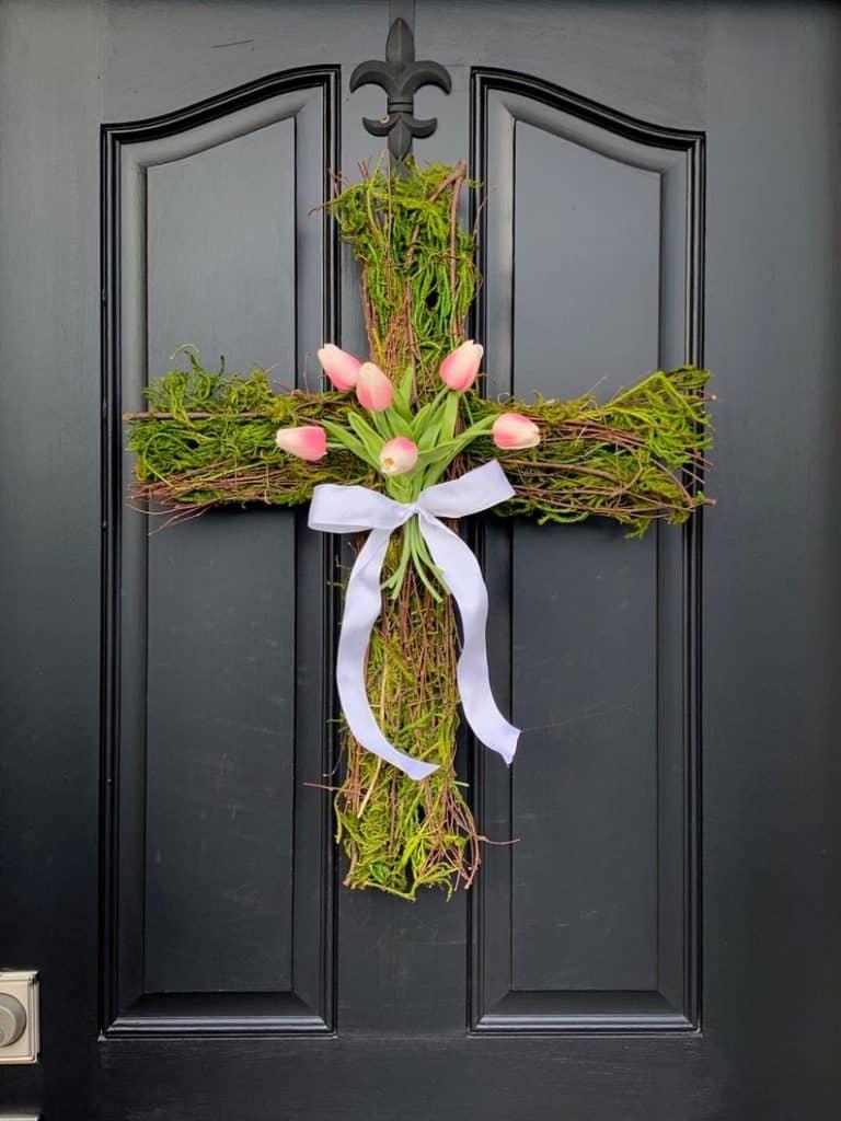 easter wreath ideas, easter wreaths, easter wreaths front door, easter wreath diy, easter decor, easter decor ideas, easter decorations outdoor, easter decorations for the home, easter cross wreath