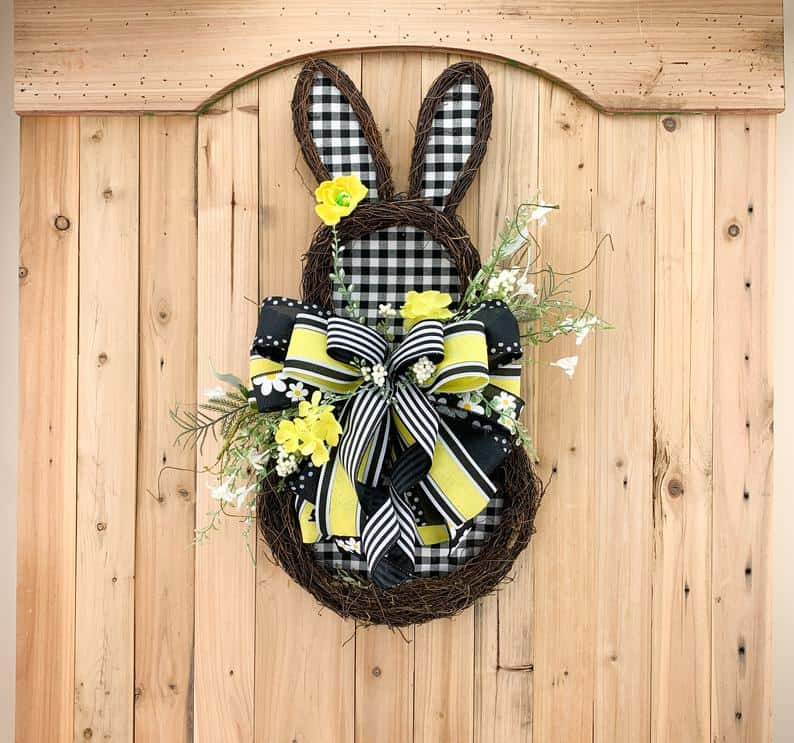 easter wreath ideas, easter wreaths, easter wreaths front door, easter wreath diy, easter decor, easter decor ideas, easter decorations outdoor, easter decorations for the home, bunny wreath