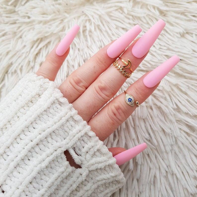 pink nails, pink nail art, pink nail designs, pink nail ideas, pink nails acrylic, pink nail polish, spring nails, bubblegum pink nails