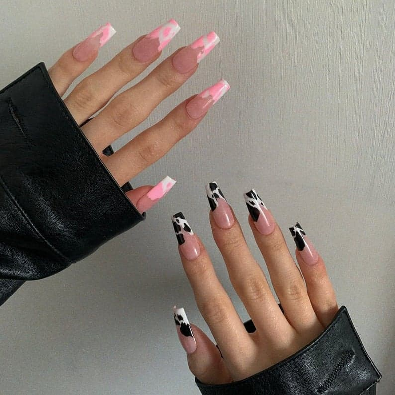press on nails, best press on nails 2021, cute press on nails, press on nail designs, press on nails short, press on nails coffin, press on nail designs pink, spring press on nails, abstract press on nails, cow nails, French tip nails