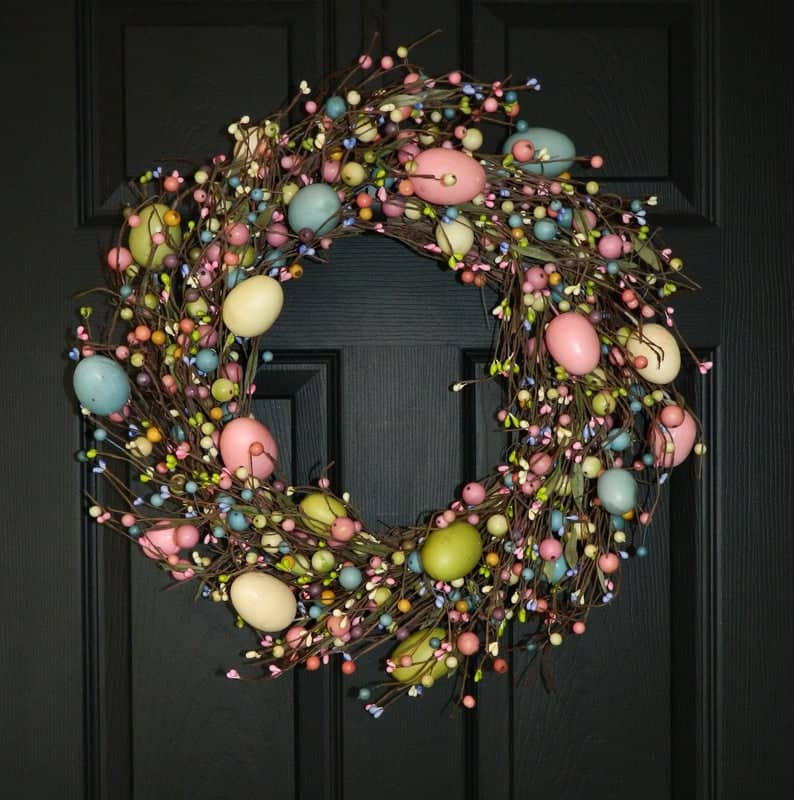 easter wreath ideas, easter wreaths, easter wreaths front door, easter wreath diy, easter decor, easter decor ideas, easter decorations outdoor, easter decorations for the home