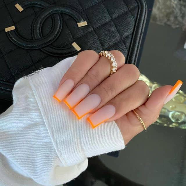 summer nails, summer nails 2021, summer nail ideas, summer nail colors, summer nails acrylic, summer nail designs, summer nail art, easy summer nails, cute summer nails, summer nails short, summer nail trends , French tip nails, neon orange nails