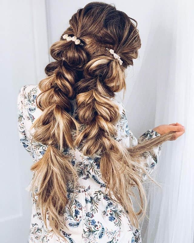 braided hairstyle, long braided hairstyle, boho braids, boho braids hairstyle, easy braided hairstyle, wedding hair, wedding hairstyles, braided wedding hair, braids for long hair, braided hairstyles for wedding, braided hairstyles for long hair, braided pigtails