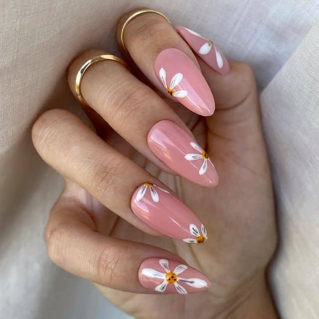 pink nails, pink nail art, pink nail designs, pink nail ideas, pink nails acrylic, pink nail polish, spring nails, floral nails, floral nail art