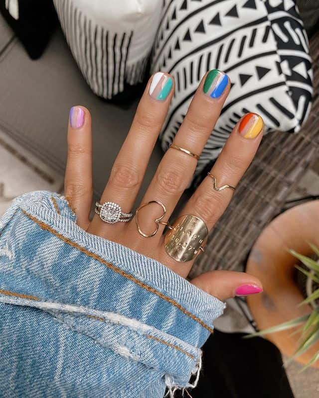 summer nails, summer nails 2021, summer nail ideas, summer nail colors, summer nails acrylic, summer nail designs, summer nail art, easy summer nails, cute summer nails, summer nails short, summer nail trends, rainbow nails, rainbow nail art