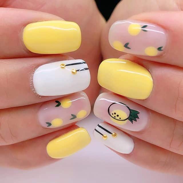 summer nails, summer nails 2021, summer nail ideas, summer nail colors, summer nails acrylic, summer nail designs, summer nail art, easy summer nails, cute summer nails, summer nails short, summer nail trends, yellow nails, yellow nail art, yellow nail ideas