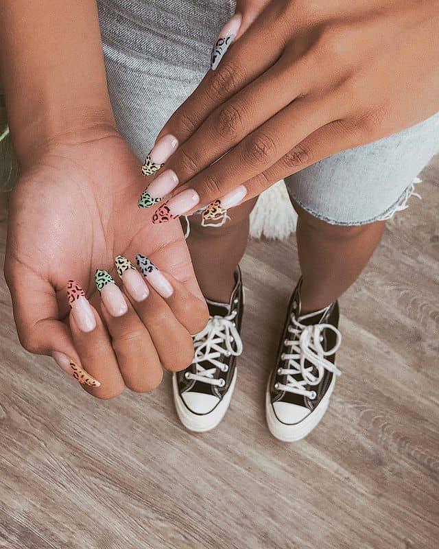 summer nails, summer nails 2021, summer nail ideas, summer nail colors, summer nails acrylic, summer nail designs, summer nail art, easy summer nails, cute summer nails, summer nails short, summer nail trends , animal print nails, French tip nails