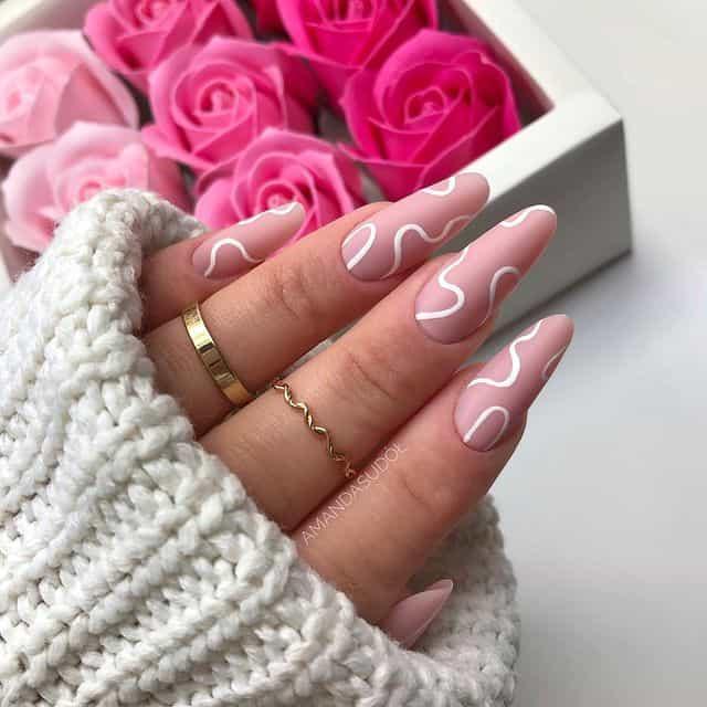 pink nails, pink nail art, pink nail designs, pink nail ideas, pink nails acrylic, pink nail polish, spring nails, nail line art