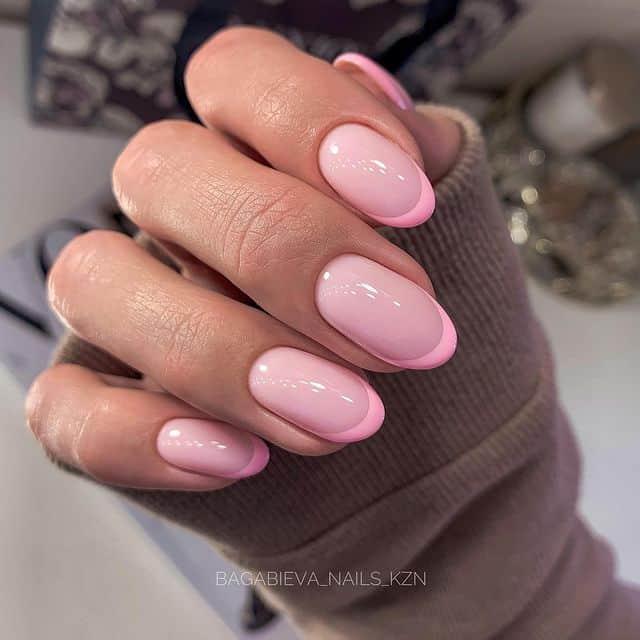 pink nails, pink nail art, pink nail designs, pink nail ideas, pink nails acrylic, pink nail polish, spring nails, French tips, pink French tip nails