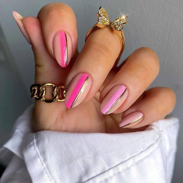 pink nails, pink nail art, pink nail designs, pink nail ideas, pink nails acrylic, pink nail polish, spring nails, stripe nails