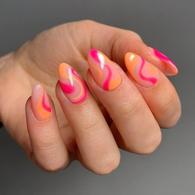 summer nails, summer nails 2021, summer nail ideas, summer nail colors, summer nails acrylic, summer nail designs, summer nail art, easy summer nails, cute summer nails, summer nails short, summer nail trends, swirl nails, swirl nail art