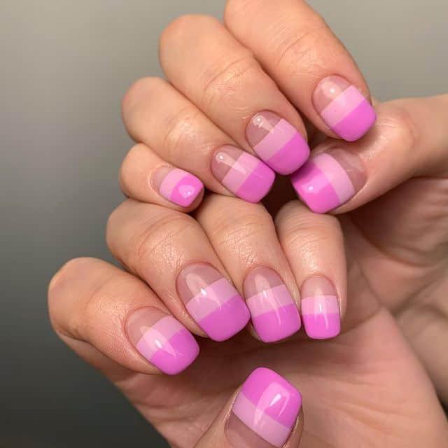 pink nails, pink nail art, pink nail designs, pink nail ideas, pink nails acrylic, pink nail polish, spring nails, stipe nail art, pink stripe nails