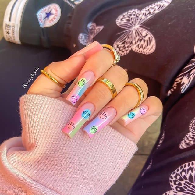 smiley face nails, smile nails, smiley face nails acrylic, smiley face nails aesthetic, smiley face nails pink, smile nails design, smile nails art, smiley nail art, smile nails aesthetic