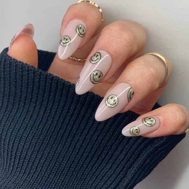 smiley face nails, smile nails, smiley face nails acrylic, smiley face nails aesthetic, smiley face nails gold, smile nails design, smile nails art, smiley nail art, smile nails aesthetic