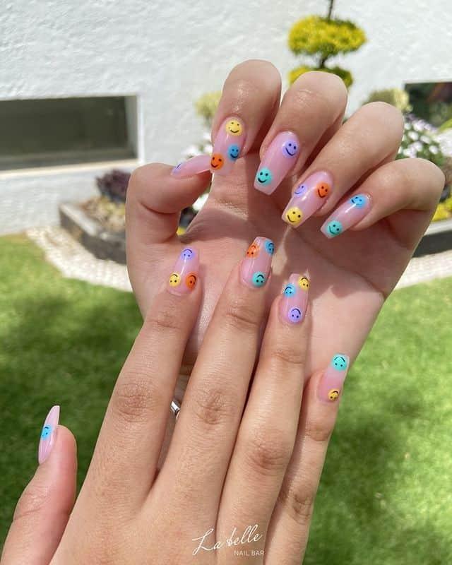 smiley face nails, smile nails, smiley face nails acrylic, smiley face nails aesthetic, smiley face nails rainbow, smile nails design, smile nails art, smiley nail art, smile nails aesthetic