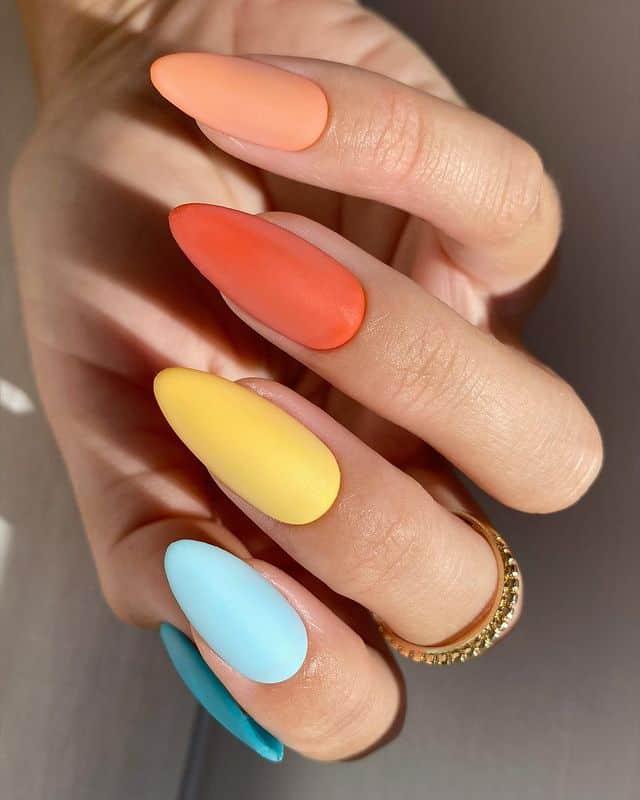summer nails, summer nails 2021, summer nail ideas, summer nail colors, summer nails acrylic, summer nail designs, summer nail art, easy summer nails, cute summer nails, summer nails short, summer nail trends , matte nails, rainbow nails