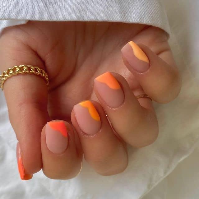 summer nails, summer nails 2021, summer nail ideas, summer nail colors, summer nails acrylic, summer nail designs, summer nail art, easy summer nails, cute summer nails, summer nails short, summer nail trends, ombre nails, orange nails, orange nail ideas