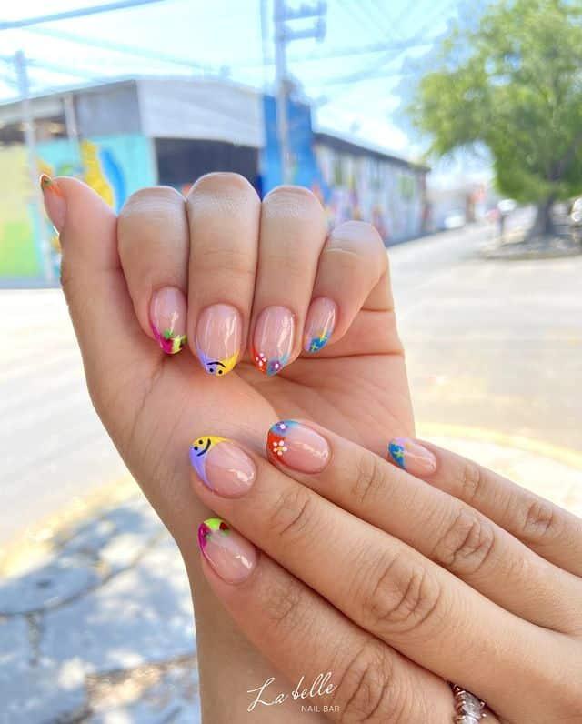 indie nail art, indie nail ideas, indie nails acrylic, indie nails aesthetic, indie nail designs, indie nail ideas acrylic, 90s nails, 90s nail art, French tips