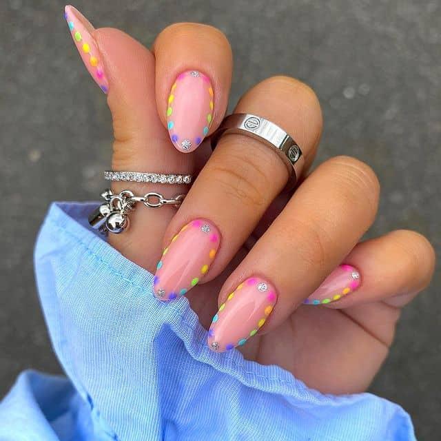 summer nails, summer nails 2021, summer nail ideas, summer nail colors, summer nails acrylic, summer nail designs, summer nail art, easy summer nails, cute summer nails, summer nails short, summer nail trends, rainbow nails, rainbow nail art, polka dot nails