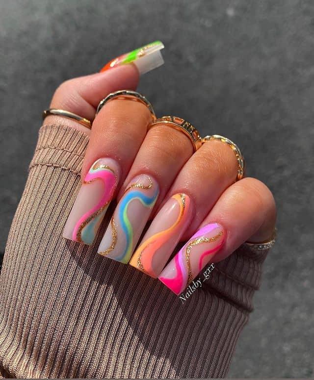 summer nails, summer nails 2021, summer nail ideas, summer nail colors, summer nails acrylic, summer nail designs, summer nail art, easy summer nails, cute summer nails, summer nails short, summer nail trends, swirl nails, swirl nail ideas, indie nails