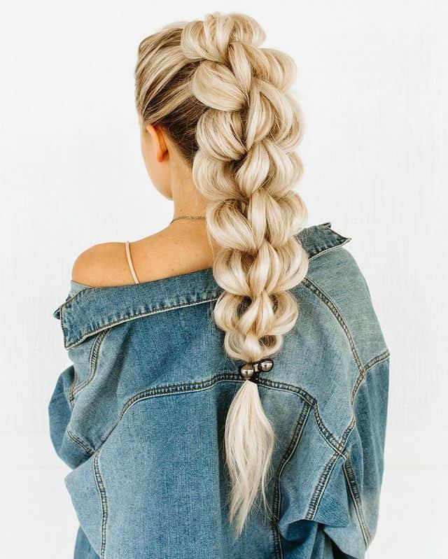 braided hairstyle, long braided hairstyle, boho braids, boho braids hairstyle, easy braided hairstyle, wedding hair, wedding hairstyles, braided wedding hair, braids for long hair, braided hairstyles for wedding, braided hairstyles for long hair, 3D braided ponytail, 3D ponytail