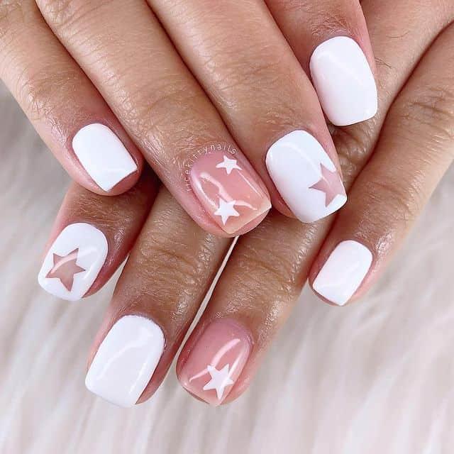 summer nails, summer nails 2021, summer nail ideas, summer nail colors, summer nails acrylic, summer nail designs, summer nail art, easy summer nails, cute summer nails, summer nails short, summer nail trends, white star nails, star nails, star nail ideas
