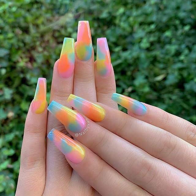 summer nails, summer nails 2021, summer nail ideas, summer nail colors, summer nails acrylic, summer nail designs, summer nail art, easy summer nails, cute summer nails, summer nails short, summer nail trends, tie dye nails, tie dye nail art