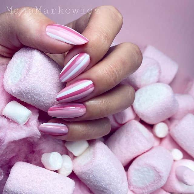 pink nails, pink nail art, pink nail designs, pink nail ideas, pink nails acrylic, pink nail polish, spring nails, stripe nails, pink stripe nails