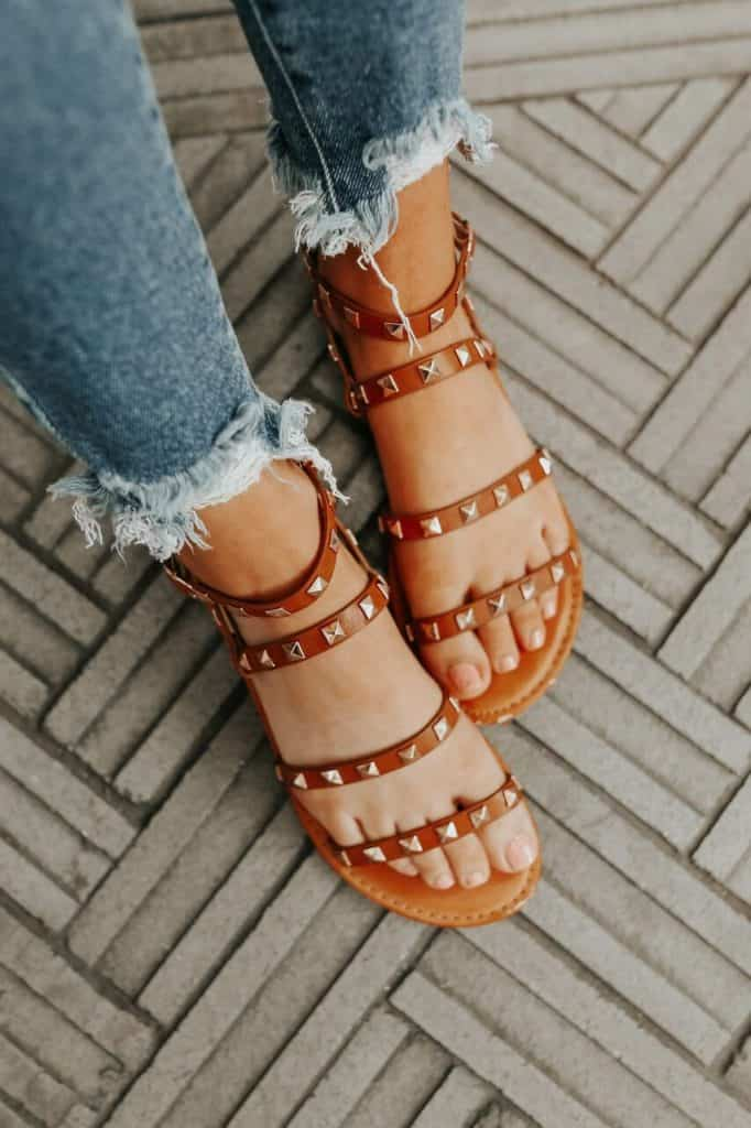 spring sandals, sandals, waffle sandals, spring sandals 2021, spring sandals flats, beige studded sandals, beige sandals, rock stud sandals