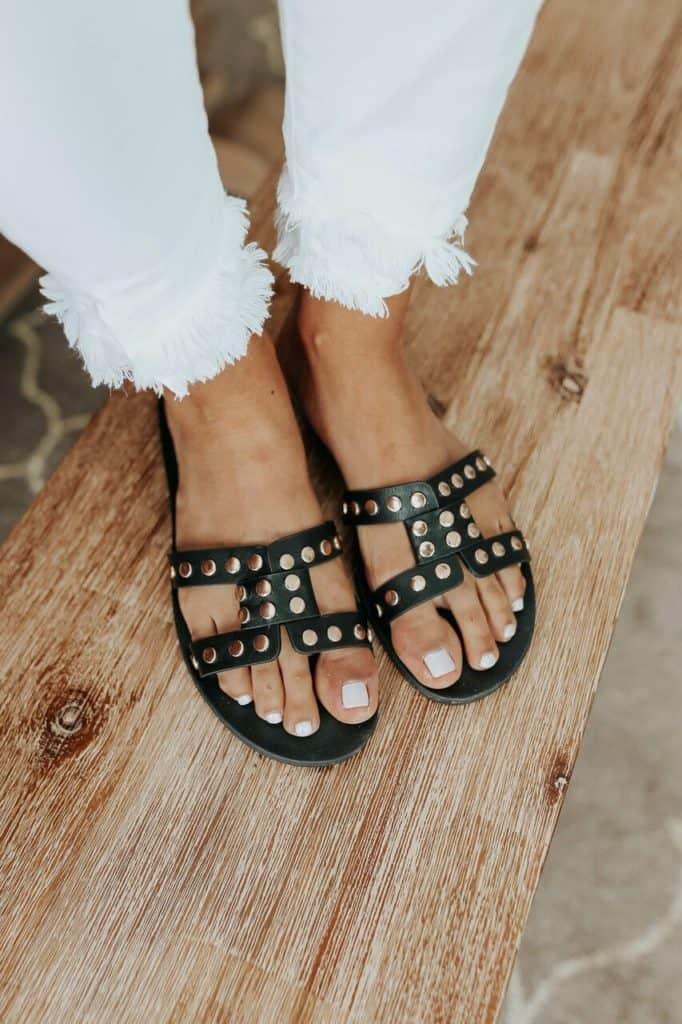 spring sandals, sandals, waffle sandals, spring sandals 2021, spring sandals flats, h sandals, black sandals, studded sandals, Hermes look a likes, Hermes dupes