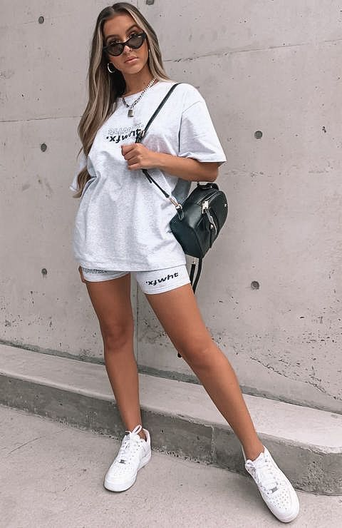 biker shorts, biker shorts outfit, biker shorts outfit summer, biker shorts outfit baddie, biker shorts street style, matching set outfit