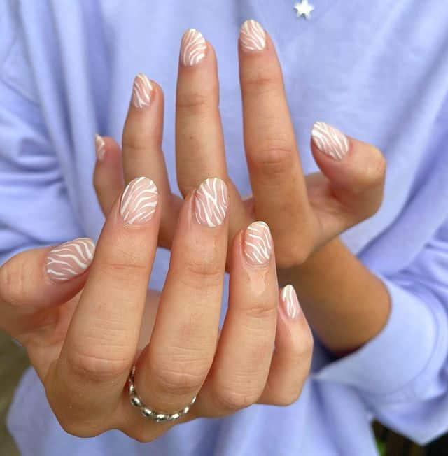 white nails, white nail ideas, white nail designs, white nails acrylic, whit nails with designs, white nail ideas acrylic, white nail polish, zebra strips, white stripe nails