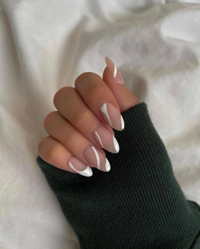 white nails, white nail ideas, white nail designs, white nails acrylic, whit nails with designs, white nail ideas acrylic, white nail polish, abstract nails