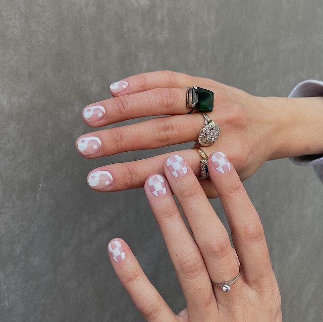 white nails, white nail ideas, white nail designs, white nails acrylic, whit nails with designs, white nail ideas acrylic, white nail polish, indie nails
