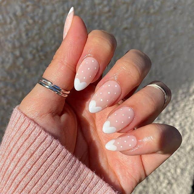 white nails, white nail ideas, white nail designs, white nails acrylic, whit nails with designs, white nail ideas acrylic, white nail polish, heart nails, heart nail designs