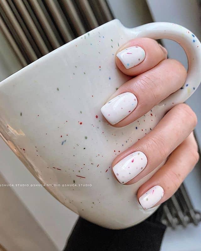 white nails, white nail ideas, white nail designs, white nails acrylic, whit nails with designs, white nail ideas acrylic, white nail polish, sprinkle nails