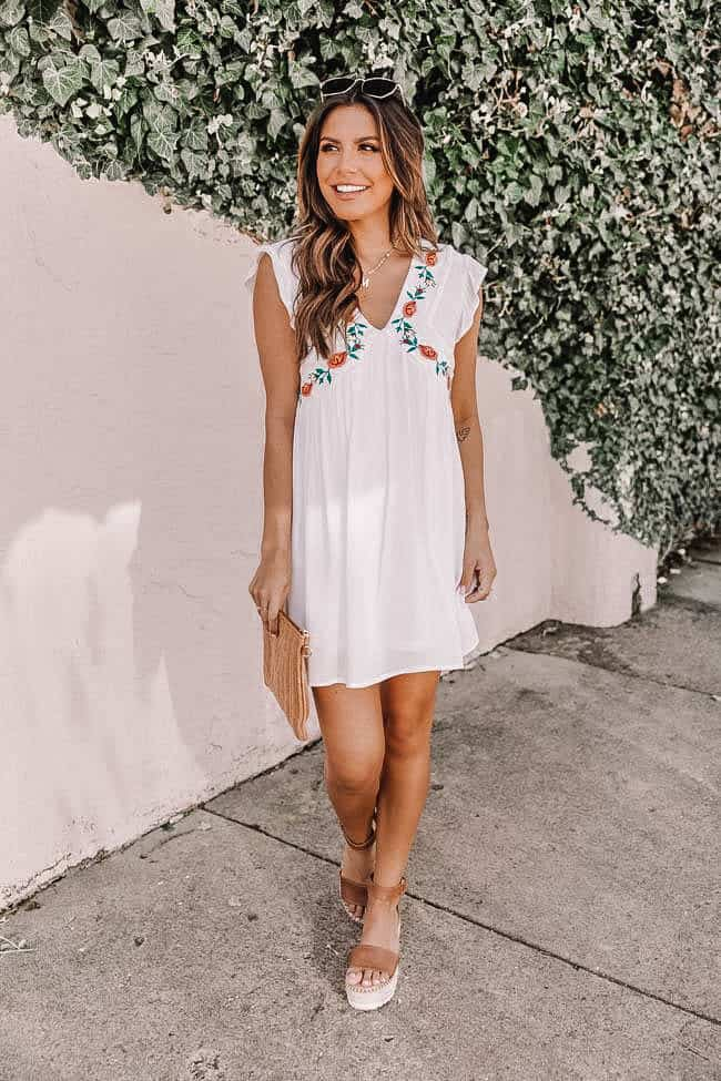summer outfit, summer dresses, summer dress, summer dress outfits, summer dresses for women, summer dresses 2021, summer dresses for women, summer outfit inspiration, summer outfits 2021, embroidery dress, white summer dress