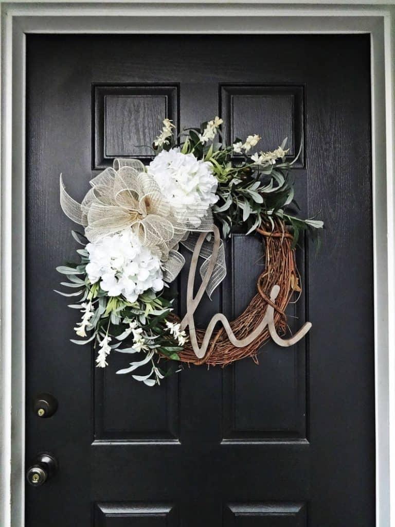 summer wreath, summer wreath ideas, summer wreath DIY, summer wreaths for front door, floral wreath, wreaths for front door, wreath ideas, grapevine wreath