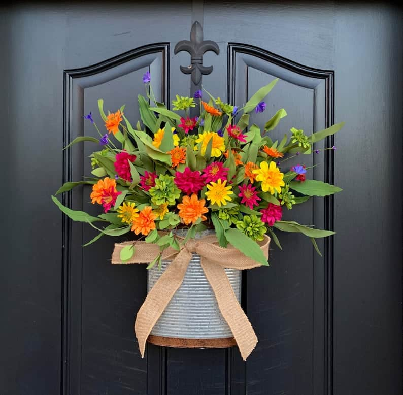 summer wreath, summer wreath ideas, summer wreath DIY, summer wreaths for front door, floral wreath, wreaths for front door, wreath ideas, daisy wreath, colourful wreath