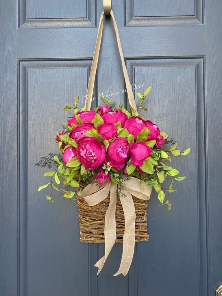 summer wreath, summer wreath ideas, summer wreath DIY, summer wreaths for front door, floral wreath, wreaths for front door, wreath ideas, peonies wreath