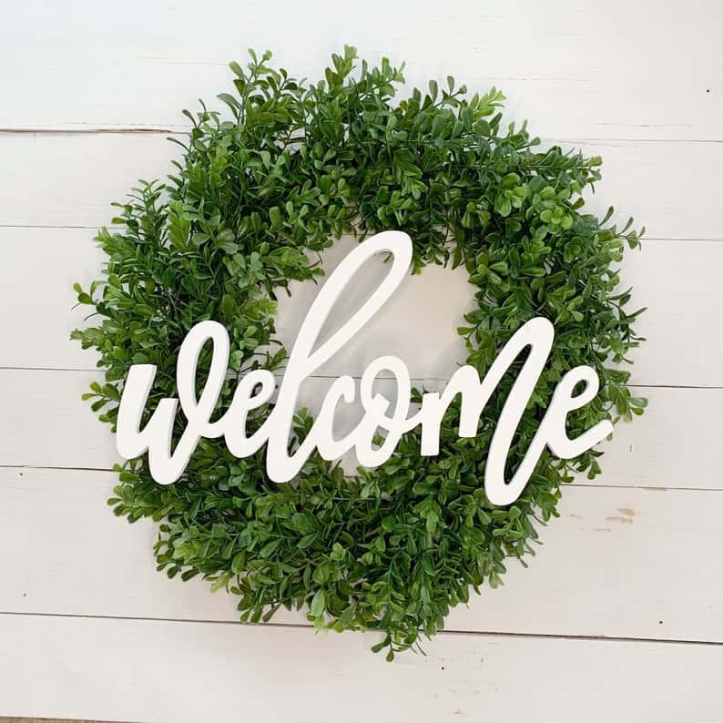 summer wreath, summer wreath ideas, summer wreath DIY, summer wreaths for front door, floral wreath, wreaths for front door, wreath ideas, boxwood wreath, green wreath